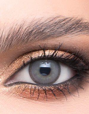 خرید لنز طوسی آبی روشن دور دار برند لازورد