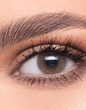 خرید لنز عسلی متوسط روشن بدون دور برند لازورد
