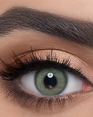 خرید لنز سبز با الگوی ظریف و حلقه نرم برند دهب