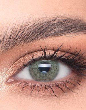 خرید لنز سبز متوسط روشن بدون دور برند لازورد