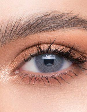 خرید لنز طوسی آبی سبز روشن بدون دور برند لازورد
