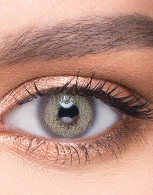 خرید لنز طوسی سبز تیله ای روشن برند لروه
