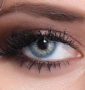 خرید لنز آبی سبز بدون دور برند هیپنوس