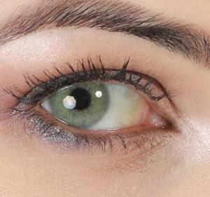 خرید لنز طوسی سبز بدون دور برند هیپنوس