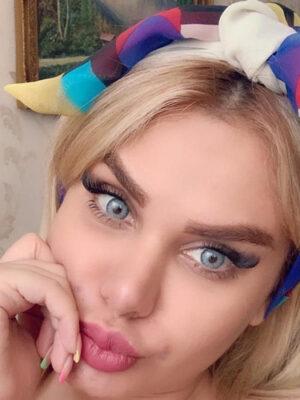 خرید لنز آبی برند لولیتا رنگی مایا بلو