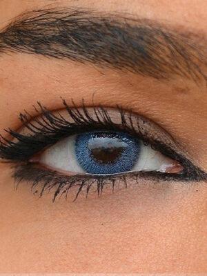 خرید لنز آبی روشن بدون دور برند سولکو
