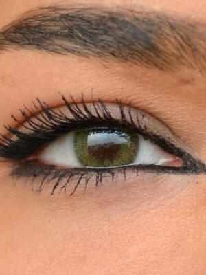 خرید لنز زرد سبز بدون دور برند سولکو