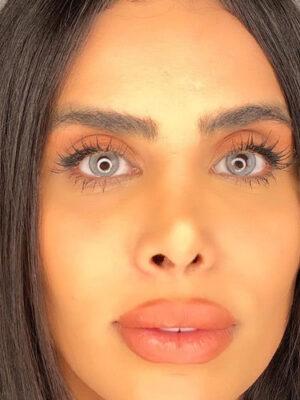 خرید لنز طوسی دور مشکی برند دیاموند