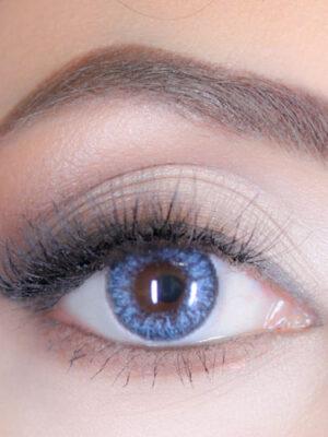 خرید لنز آبی دور مشکی برند فستیوال