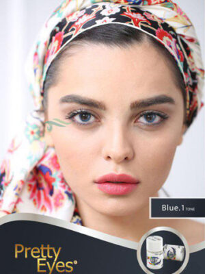 خرید لنز رنگی مارشال پرتی آیز بلو تن1