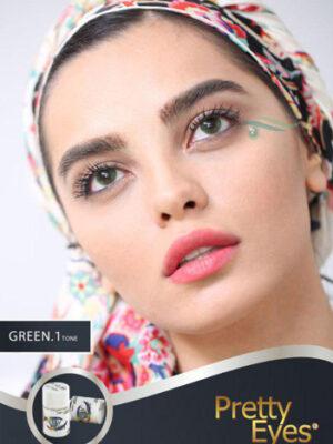 خرید لنز رنگی مارشال گرین تن1