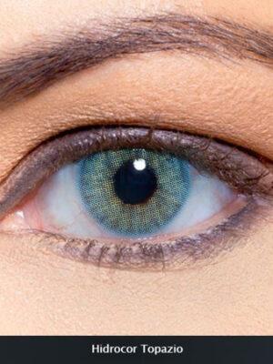 خرید لنز آبی سبز بدون دور برند سولوتیکا