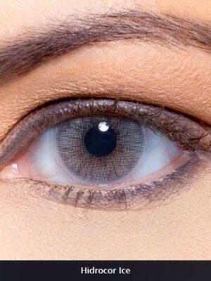 خرید لنز طوسی آبی بدون دور برند سولوتیکا