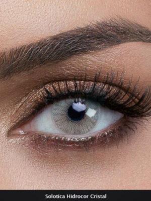 خرید لنز طوسی روشن بدون دور سولوتیکا هیدروکور
