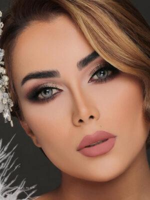خرید لنز طوسی یخی دور دار برند کلیر ویژن