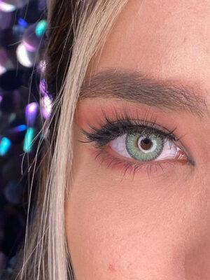 خرید لنز سبز دور مشکی برند فرشتن