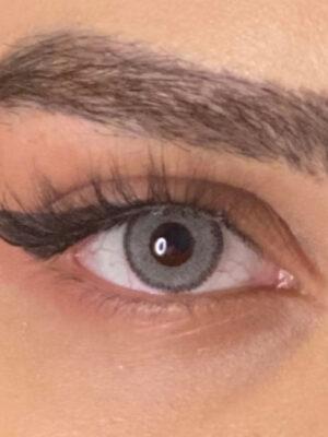 خرید لنز طوسی دور دار برند لولیتا روزانه